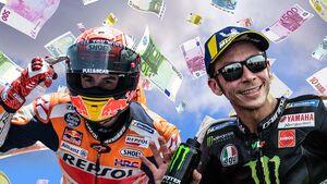 So viel verdienen die MotoGP-Stars.