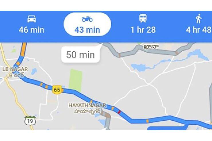 Google Maps Motorrad